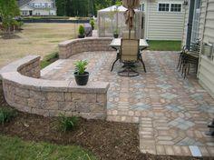 52 Trendy Painted Concrete Patio Ideas Back Porches Small Patio Design, Backyard Patio Designs, Backyard Landscaping, Patio Ideas, Concrete Patio Designs, Cement Patio, Patio Wall, Backyard Ideas, Small Outdoor Patios