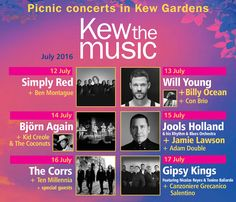 The picnic concerts are back with performances from Simply Red, Will Young, The Corrs, Jools Holland and more!