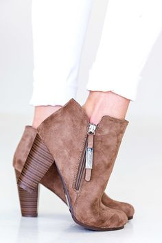 A Step Ahead Bootie - Taupe