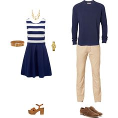 """Nautical Couple Photoshoot Outfit"" by kelly-60 on Polyvore"
