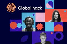 Global hack is the biggest online hackathon in the world fighting off the crisis to battle the problems we are facing as a global society after the immediate corona crisis is over. We are bringing together world class mentors and globally talented teams to build the solutions for the better future. Together. Web Design, Book Design, Graphic Design, Event Branding, Branding Design, Bauhaus Colors, Art Party, Social Media Design, Layout Inspiration