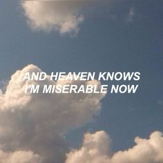 Heaven Knows I'm Miserable // The Smiths