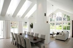 A:014 A Frame House, Hamptons House, Küchen Design, Living Room Inspiration, House Floor Plans, Home Renovation, Great Rooms, Villa, Home Interior Design