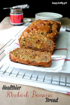 Rhubarb Banana Bread and How to Ripen Bananas in the Oven - You will never miss the oil or refined sugar in this delicious whole wheat bread recipe. The rhubarb adds a nice tart flavor; while the banana balances out the tart with a lovely sweetness.
