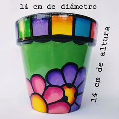 Paint Garden Pots, Painted Plant Pots, Painted Flower Pots, Flower Pot Art, Flower Pot Crafts, Clay Pot Crafts, Plastic Container Crafts, Painted Trash Cans, Painted Barn Quilts