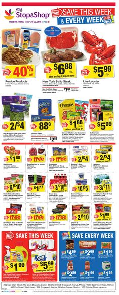 Stop and Shop Circular September 16 - 22, 2016 - http://www.olcatalog.com/grocery/stop-and-shop-circular.html