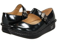 Zappos Paloma in charcoal with skull clasps.