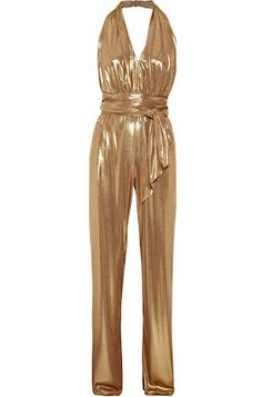 Golden halter jumpsuit