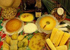 Comidas típicas de festa Junina.