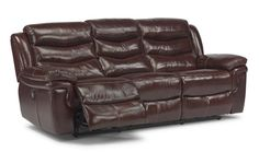 Flexsteel Furniture: Reclining Sofas: DominoLeather Power Reclining Sofa (1149-62P)