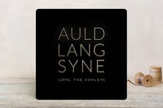 Auld Lang Syne Holiday Cards