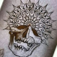 26 new Ideas tattoo mandala skull Mandala Tattoo Design, Mandala Tattoo Mann, Tattoo Designs, Designs Mehndi, Skull Tattoos, Life Tattoos, Body Art Tattoos, Henna Tattoos, Knee Tattoo