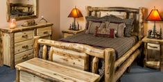 How to Build a Log Bed –  Rustic Design