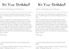 Birthday & 1/2 birthday letters (1/2 birthdays for Summer birthdays!)