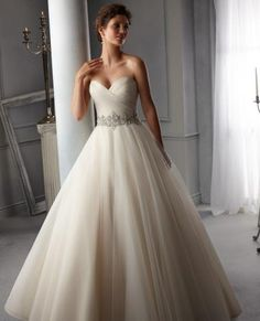 Elegant tuelle Wedding dress available at Dan Kerr Brides Blackpool