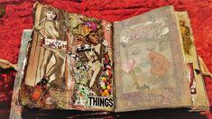 σελίδα για ένα πειραγμένο βιβλίο, mix και πολλά, κολάζ μικτές τεχνικές Altered Books, Mixed Media, Collage, Journal, Artwork, Collages, Work Of Art, Auguste Rodin Artwork, Book Art