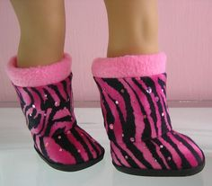 """Colorful Print Boots made for 18"""" American Girl Dolls"""
