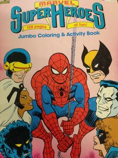 A vintage Marvel Superheroes activity book from our stash of comics!