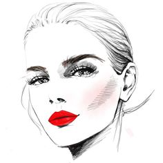 LONDON, FASHION WEEK 2014, ILLUSTRATION FOR REVLON see all my illustration