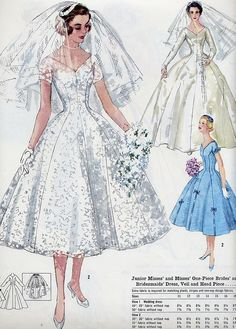 I've always known I'd have to make my own wedding dress one day. They just don't make them like this anymore. Simply elegant!