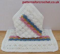 Free baby crochet pattern for washcloth http://www.patternsforcrochet.co.uk/baby-cotton-washcoth-usa.html #patternsforcrochet #freecrochetpatterns