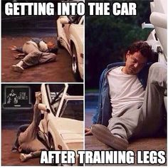 Everytime! Getting into the car after leg day wolf of wallstreet