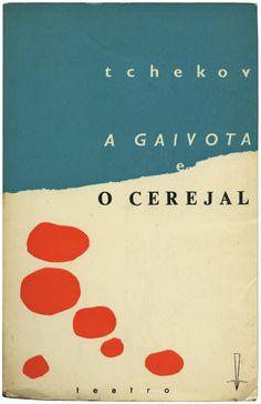 A gaivota e O cerejal, Tchecov, Presença, design A. Dias, 1963/The Seagull & The Cherry Orchard, Anton Chekov.