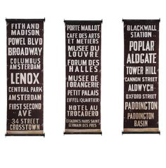 Bus Scroll Wall Hanging