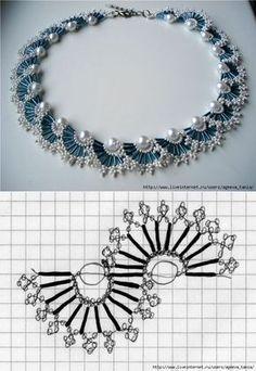 67 Best ideas for diy jewelry tutorials necklace beautiful Bead Jewellery, Seed Bead Jewelry, Jewlery, Beading Jewelry, Jewelry Findings, Beaded Necklace Patterns, Beaded Bracelets, Bib Necklaces, Seed Bead Patterns