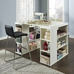 THE OFFICE DESK: Belham Living Sullivan Counter Height Desk - Vanilla