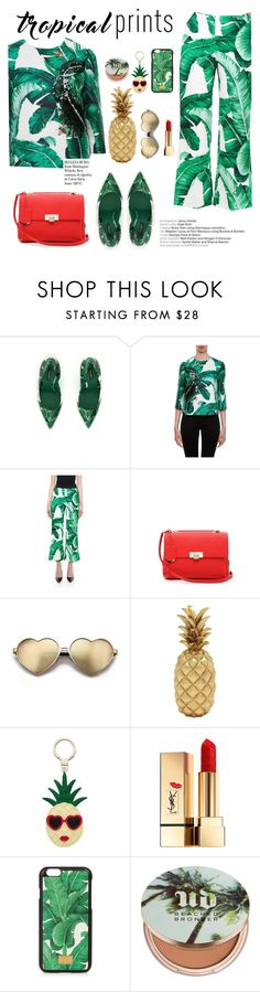 """""""Hot Tropics"""" by italist ❤ liked on Polyvore featuring Dolce&Gabbana, Balenciaga, Wildfox, Whiteley, Kate Spade, Yves Saint Laurent, Urban Decay, tropicalprints and hottropics"""