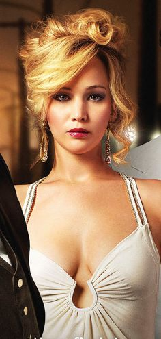 jennifer lawrence hair american hustle | love her hair and makeups!