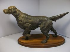 Antique Cast Iron English Setter Hunting Dog by RUBBEDEFFECT
