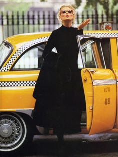 "NYC. ""Nero Superstar"", Daniela Pestova, November 1992"