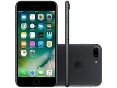 """iPhone 7 Plus Apple 32GB Preto Matte 4G 5,5"""" - Câm. 12MP + Selfie 7MP iOS 10 Proc. Chip A10"""