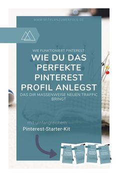 Lerne, wie Du Dein Profil in Pinterest optimal einrichtest - Teil 1 der kompletten Strategie, die Dir Traffic, Leads und Kunden bringt - Tap the link to shop on our official online store! You can also join our affiliate and/or rewards programs for FREE!