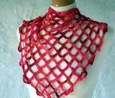 Super Fast n Easy Peasy Crochet Shawl: free pattern - draped just under a jacket, lookin good