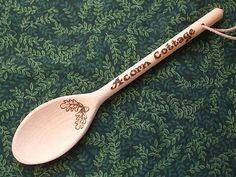 Pyrography spoon - Eddy & Fran.