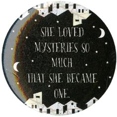 Paper Towns She Loved Mysteries Pin | Hot Topic ($1.99) ❤ liked on Polyvore featuring accessories and pins