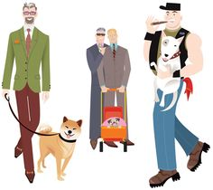 Dogs and Gay Men: A Match Made in Heaven - Dogster Graphic Art, Graphic Design, Queer Art, Man And Dog, Made In Heaven, Like Animals, Gay Men, Match Making, Dog Behavior