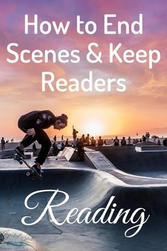 The end of the scene is not usually the end of a story. That means you don't want your reader to feel like the end of your scene is a place to stop reading. Keep you readers reading by revealing new information they want to learn more about or stopping at a place of high tension and stakes. Here's how to end scenes and compel readers to continue.