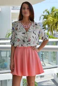 Birds and Leaves Printed Blouse, $39.95, Love Shopping Miami