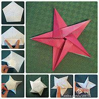 Origami Star by einfach Yvonne Christmas How to fold a 5 pointed origami star with step by step photos. An easy way to make beautiful Christmas star decorations. Origami Star - Start with any size square of midweight paper origami star- in fabric this wou Diy Origami, Origami And Kirigami, Paper Crafts Origami, Diy Paper, Paper Crafting, Dollar Origami, Origami Folding, Paper Quilling, Ideas Origami