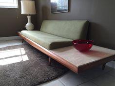 Mid Century Adrian Pearsall Platform Sofa with Travertine