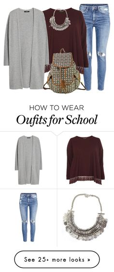 """""""Casual School Day"""" by myfriendshop on Polyvore featuring H&M, Dorothy Perkins and MANGO"""