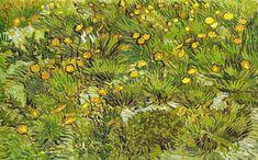 Vincent van Gogh - Dandelions, 1889 (Kunstmuseum Winterthur Switzerland) Van Gogh: Up Close at Philadelphia Museum of Art (by mbell1975)