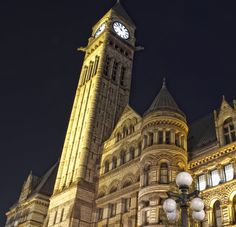 Old City Hall clock tower.