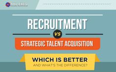 Confused between recruitment and strategic talent acquisition? Worry no more as we present to you here the top differences between these two hiring approaches.