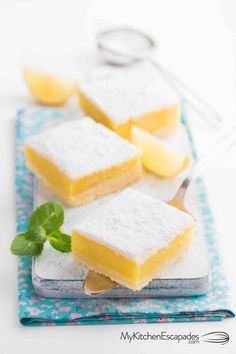 This easy lemon bars recipe is my family favorite for summer desserts! If you want the best lemon squares recipe, this is it my friend! Summer Desserts, Fun Desserts, Dessert Recipes, Salad Recipes, Lentil Recipes, Avocado Recipes, Dessert Bars, Recipes Dinner, Summer Recipes