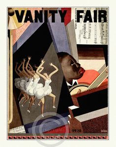 Cover Art. This beautiful art print is from a rare Vanity Fair Cover by Deco artist Bolin. Wonderful jazz age 1928
